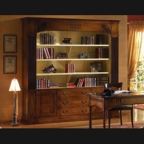 Escritorio con librería...