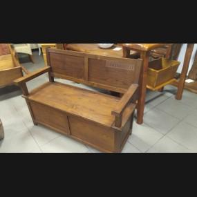 Escaño con arca modelo ERU0009