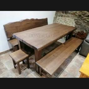 Mesa con bancos modelo TRU0006